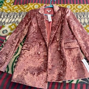 Top Shop Pink Velvet Blazer